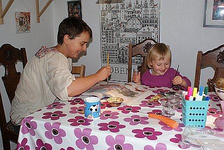 Mette og Ellen maler Efteråret 2009